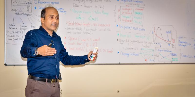 "During Short Course on ""NETWORK BIOLOGY"" offered by Dr. Ganesh Bagler, Indian In"