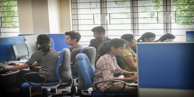 Computer Labs of Students during hands-on session