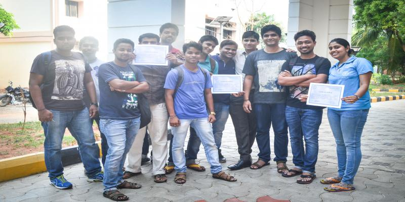 Students of the Centre and other dept. students with course completion certifica