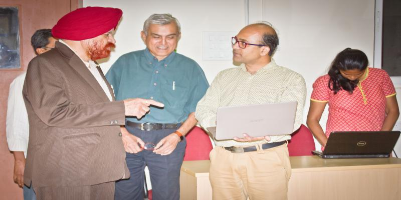 "Vice-Chancellor Prof. GURMEET SINGH's visit during Short Course conducted on ""NE"