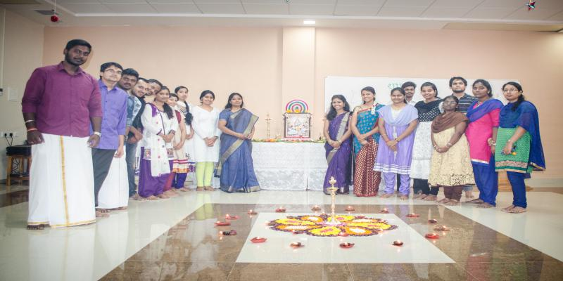 During Saraswathi Pooja 2016 @ Centre for Bioinformatics